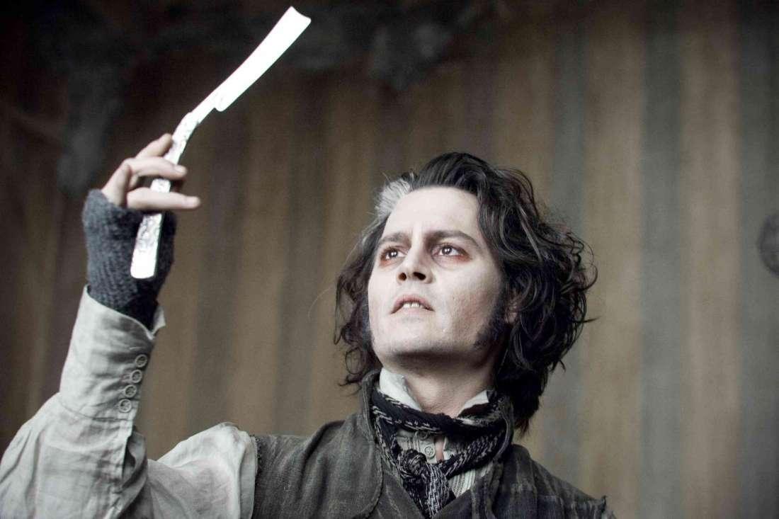 """""""Суинни Тодд, демон-парикмахер с Флит-стрит"""" (Тим Бёртон, 2007 год) - мюзикл, триллер, ужасы, драма."""